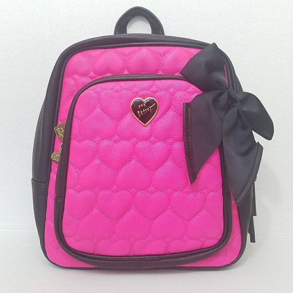 9a180281ceb Betsey Johnson Bags   Backpack Quilted Heart With Bow   Poshmark